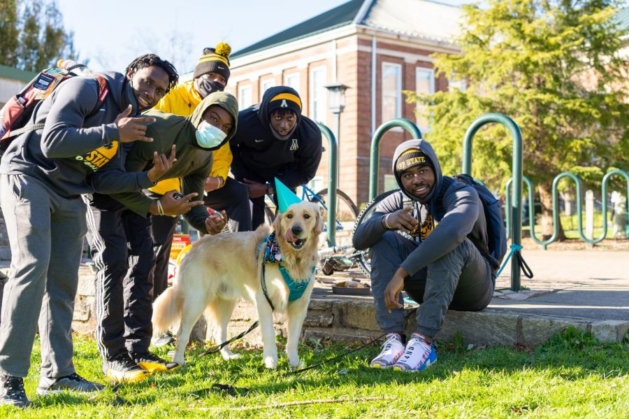 Teddy loves going to the football games at App State, here some App State football players said
