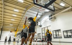Senior guard Pre Stanley (#5) shoots a layup during an App State women's basketball preseason practice. Stanley, who was named to the preseason all-Sun Belt second team, is making the switch from shooting guard to point guard in 2020.