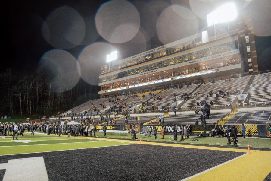 App State fell to 7-3 overall and 5-2 in Sun Belt play on Friday night at Kidd Brewer, falling to Louisiana 24-21 on senior night. Three turnovers and two missed field goals were key factors in the loss.