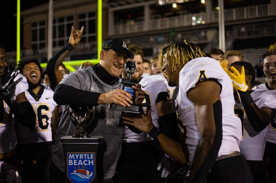 Peoples takes over in Myrtle Beach, leads App State football to sixth straight bowl championship
