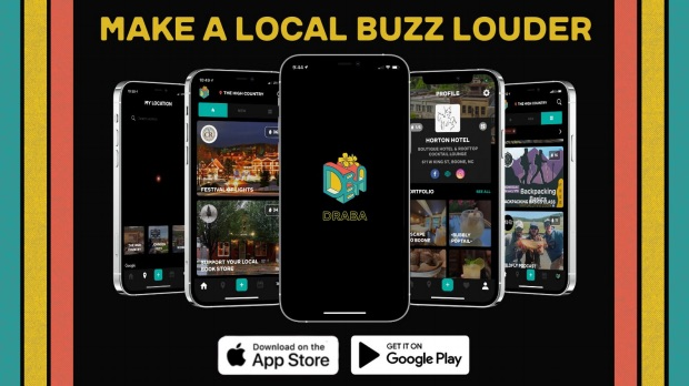 Draba, a business and culture app created by former App State student Davis Parker, targets community members, tourists and businesses to promote local attractions and activities.