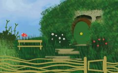An interpretation of Bag End, where famous character Bilbo Baggins lives. His home is the location of the opening pages, and it is here, during his