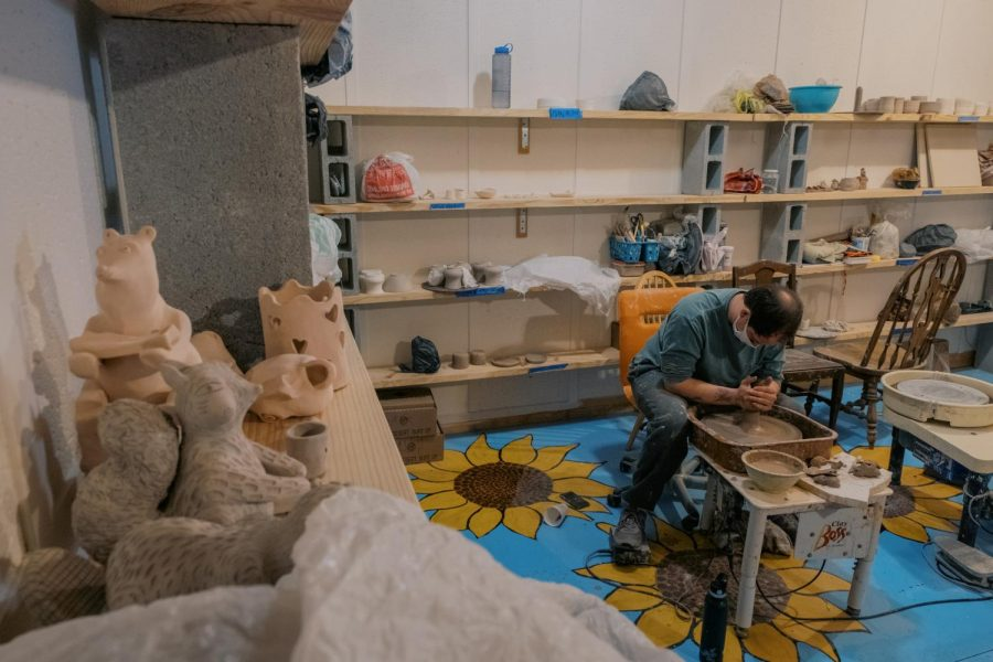 The inside of High Country Clay. The studio is open to artists and the community for workshops or memberships.