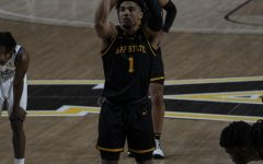App State senior guard Justin Forrest takes a free throw during a 74-61 win over Georgia State Jan. 23 in Boone. In Saturday's OT win over Texas State in the Sun Belt quarterfinals, Forrest led App State with 28 points on 14-17 from the free throw line.
