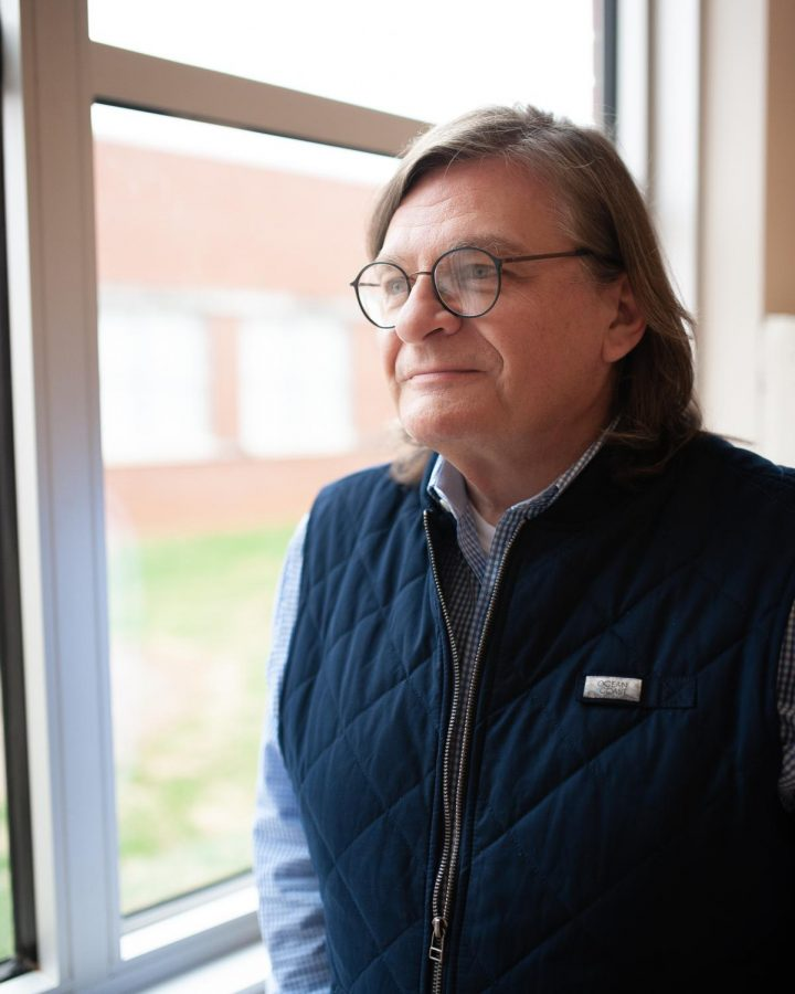Jim Brooks, an App State alumnus with a doctoral degree in education, has taught at West Wilkes High School for 36 years. He teaches English, Latin and the student yearbook class. Brooks is on the teacher certification board and helps bring up candidates for national board certification.