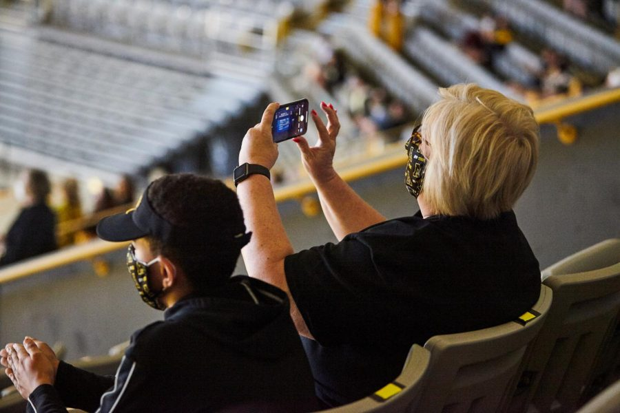 As the App State basketball team received its first March Madness bid in 21 years, fans took in the moment at the home of the Mountaineers, the Holmes Convocation Center. Masks were required for entry and groups of 3 or less sat socially-distanced from each other.