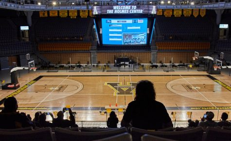 App State fans watched from the Holmes Convocation Center as the Mountaineers