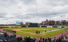 App State and Charlotte faced off in the first game ever played at the new $52 million minor league stadium in Kannapolis.