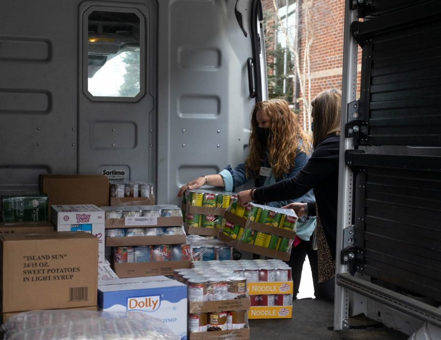 The Hunger and Health Coalition receives shipments of food three times a week. HCC orders food for five different programs, including two programs developed during the pandemic: a mobile delivery program and a food pantry at Watauga High School.