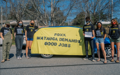 "Members of the Sunrise Movement's Boone chapter advocated for Rep. Foxx to sign the ""Good Jobs for All"" pledge, which pushes for investment in unionized jobs addressing climate change, systemic racism, and economic inequality."