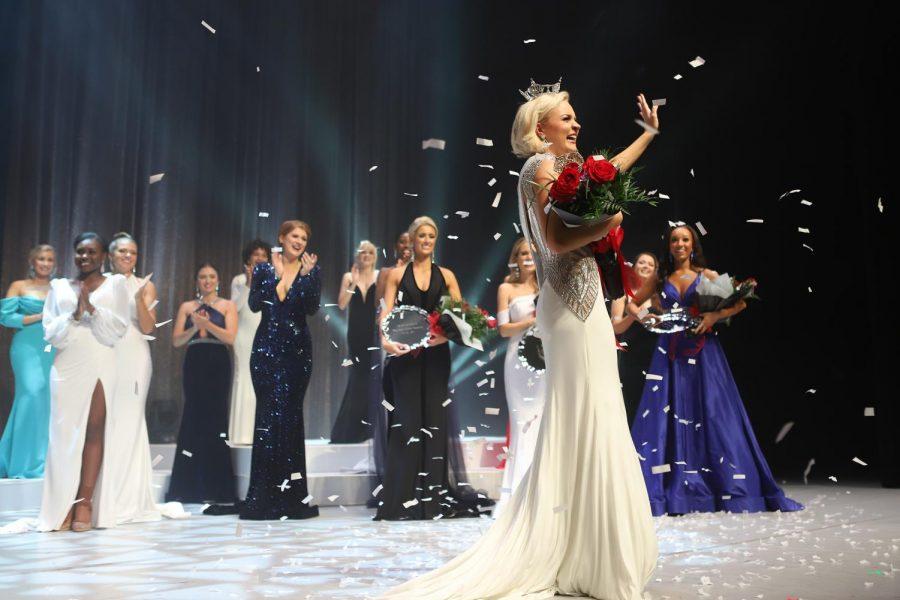 21-year-old Carli Batson with her Miss North Carolina sash and crown.