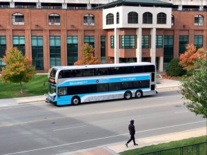 The AppalCart Pop 105 route will feature a double-decker bus until Oct. 15.