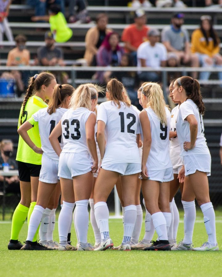 App State huddles up ahead of its matchup with Wake Forest. The 0-2 defeat mirrored the Mountaineers' last showdown with the Deacs, which was a two-score loss in Winston-Salem in 2019.