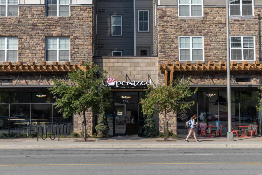 """Cupcrazed is located beneath The Standard on Blowing Rock Road. Shanahan said she wanted it to """"be some place that is walkable for students and walkable for the community."""""""