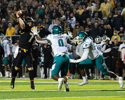 Mountaineers upset No. 14 Chanticleers for first ranked win since 2007