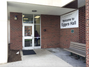 Students reported a phone camera hidden in the third floor bathroom of  Eggers Residence Hall Oct. 15.