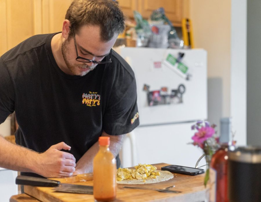 Gage Blackston, senior food systems management major, enrolled at App State to pursue football as a physical therapy major. He decided to undergo a major change once he rediscovered his love of cooking around the same time.